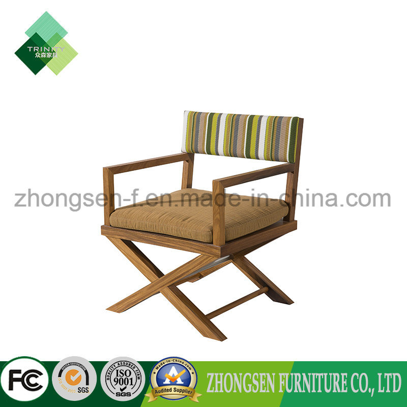 Hotel Solid Wood Furniture Manufacturers/Maker Custom Made Outdoor Leiture Chair Make of Teak and Fabric-Zbc-888