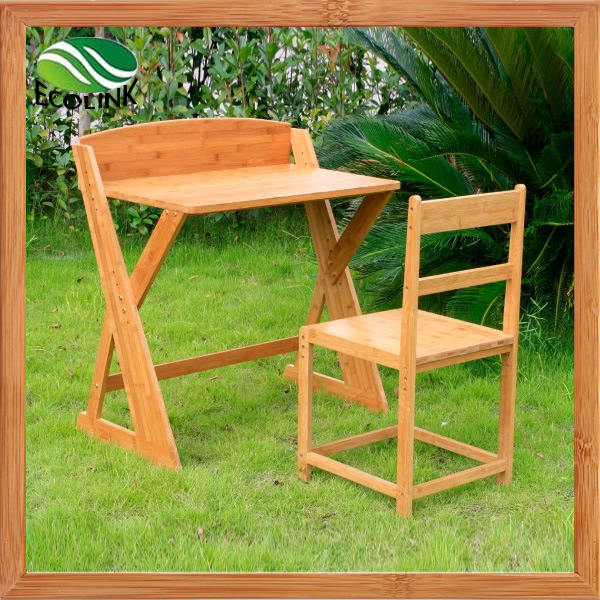 Bamboo Kids Study Table and Chair Set