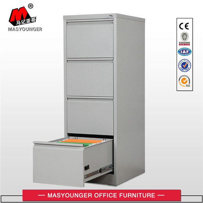 Steel Office Metal Powder Coating Furniture Use Vertical File 4 Drawers Filing Storage Cabinet