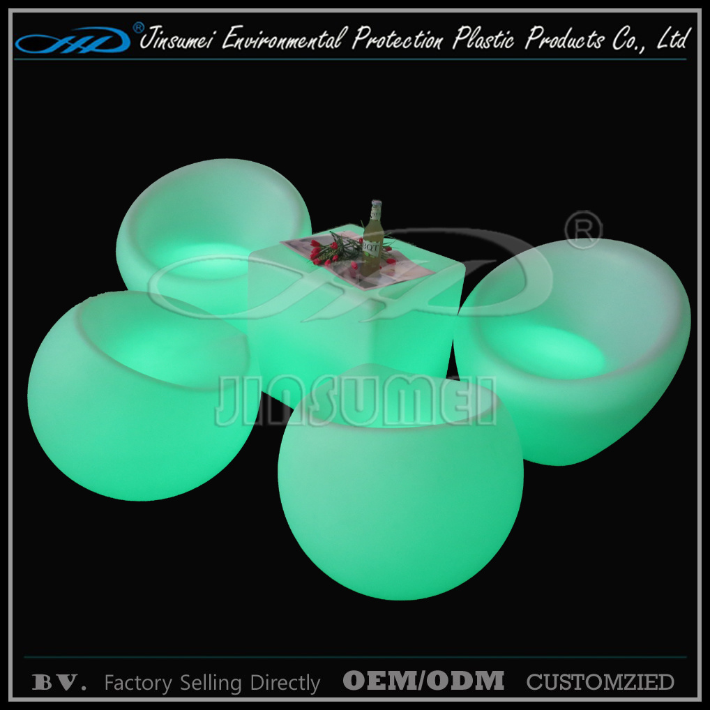 PE Plastic Modern Indoor LED Furniture with BV