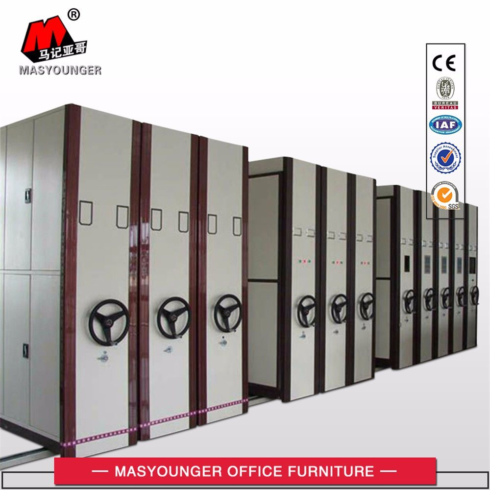 Government Storage Furniture Use Professional Mobile Cabinet Metal Movable Archive Mass Shelf