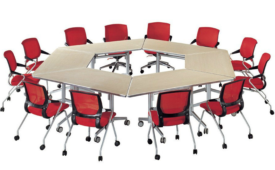 Sectional Folding Office Furniture Set Sectional Training Table 12 Seat Conference Table