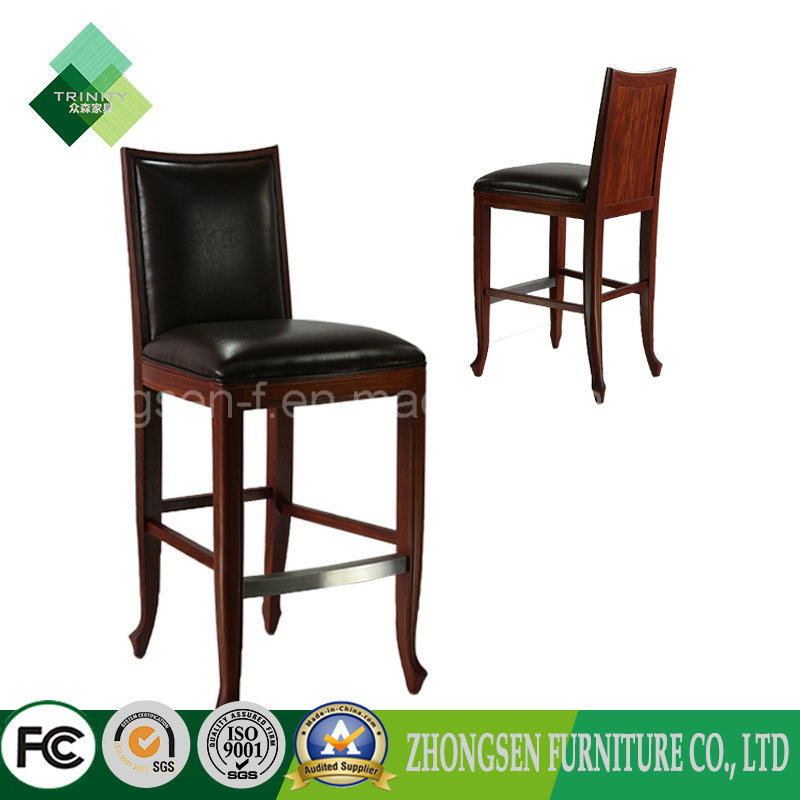 Antique Style Wooden Frame Bar Stool High Chairs for Sale