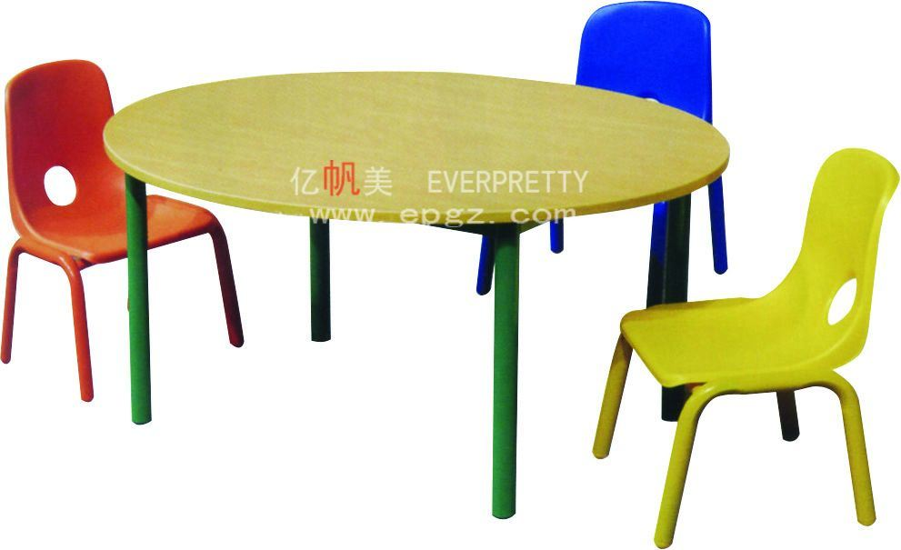 Nursery School Furniture Kids Plastic Table With Chair Baby