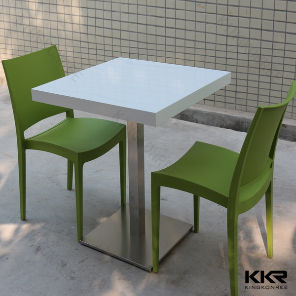 Kkr Modern Design Acrylic Solid Surface Dinning Table with Chair