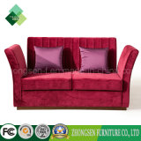 American Style 2 Seater Fabric Red Sofa for Living Room