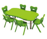 Wholesale Price Folding Plastic Children Table and Chairs for Nursery Furniture, Kids Table and Chairs for Kindergarten