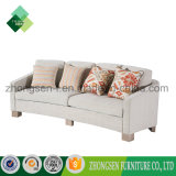 Professional Custom-Made Modern Simple Style Unique White Fabric 3 Seats Sofa of Living Room Furniture