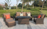 Outdoor Furniture 10mm Half Moon Curve Flat Wicker and 5mm Round Wicker