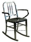 Emeco Metal Dining Restaurant Coffee Armchair Navy Rock Chair