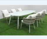 Rope Woven Dining Set for Garden and Patio