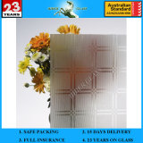 3-8mm Clear Rh-2 Acid Etched Patterned Figured Glass with AS/NZS2208: 1996