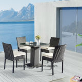 Outdoor Furniture Cheap Wicker Stackable Chairs by One Leg Table (YTA182&YTD836)