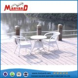 Bistro Rattan Table and Chair White Outdoor Garden Furniture