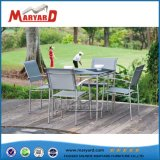 Outdoor Furniture Glass Square Picnic Table Set