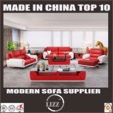 Home Leisure Living Room Furniture Leather Sofa with Ottoman