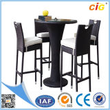 New Style 5PCS Rattan Dining Round Table and Chairs