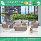 Stainless Steel Sofa Set Patio Rattan Sofa Wicker Sofa Outdoor Furniture Modern Sofa Set (MAGIC STYLE)