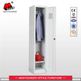 Gym Key Worker Office Use Single Door Storage Steel Metal Locker with Cloth Bar