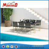 Simple Design Tempered Glass Table Top Dining Table Set