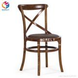 China Supplier Hotel Restaurant Wood Cross Back Chair Used Chair