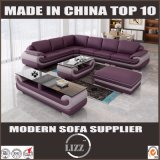 European Style Concise Living Room Furniture Leather Sofa