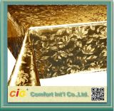 Modern Design Gold Color PVC Tablecloth Made in China