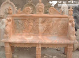 Antique Stone Marble Garden Bench for Garden Ornament
