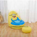 Indoor Living Room Furniture Inflatable Flocked PVC Lazy Air Sofa