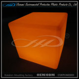 LLDPE Material Rotational Moulding Plastic Modern Indoor LED Cube Chair