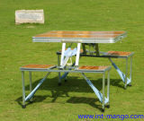 Eco Friendly Bamboo Camping Folding Table with Chairs (MW12003)