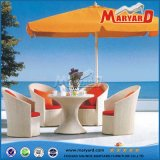 Modern Patio Rattan Coffee Table and Chairs Set