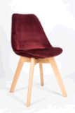Bar Chair with Plastic and Wood Back in Papular
