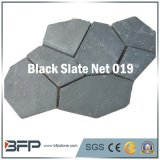 Natural Outdoor Garden Meshed Slate Cobble Stone Black Landscape Material