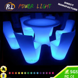 LED Furniture Lighted Plastic RGB Glowing LED Dining Set