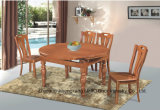Classic Solid Wood Rubber Wood Round Dining Table