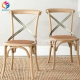 Factory Price Cheap Modern Solid Wood Cross Back Chair