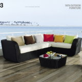 New Style Top Quality Synthetic Rattan Outdoor Garden Furniture Sofa by Cornor Set (YT327)