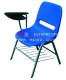 Training Chair with Table PP Chair with Tablet Arm Pad Tablet Folding Plastic Chairs
