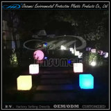 LED Illuminated Cube Chair Outdoor Furniture for Party Events