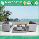 Outdoor Sofa Set with Cushion Garden Sling Sofa Modern Textile Sofa Textile Coffee Sofa Leisure Sling Sofa Outdoor Coffee Table with Stone Imitation Glass