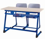 New Design Wood and Plastic Double School Desk Chair Student Table Chair Sf-32D