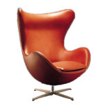 Egg Leisure Leather Chair for Office Living Room