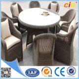 New Design Outdoor Round Wicker Rattan 8 Seat Dining Table Setting