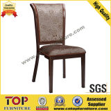 Hotel Imitate Wood Classy Back Metal Dining Chair