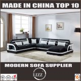 Latest Living Room Furniture Modern Style Woode Leather Sofa