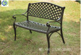 Classical Powder Coated Black Cast Aluminium Garden Patio Bench