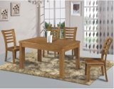 Solid Wood Old Style Dining Table with Dining Chairs