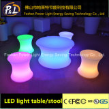 Illuminated Plastic LED Coffee Table LED Stool Lounge Decor