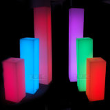Illuminated LED Square Cylinde with Lighting for Events Weddings Parties